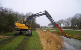 Sloten schonen - Met 15-tons rupskraan met of zonder verlengarm